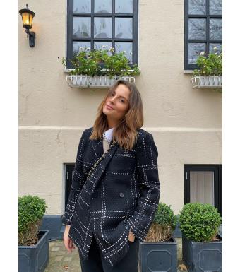 Anine Bing Kaia Blazer Svart/Vit
