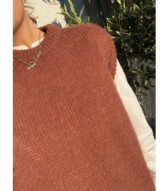 Tiffany Cathy Slipover Knit, Heather