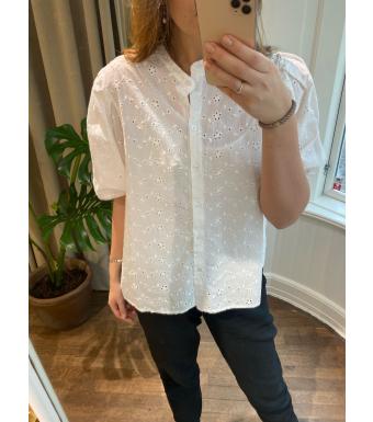 Tiffany Clara Blouse Cotton Lace, White