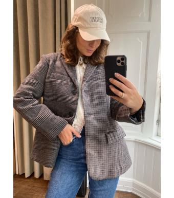 Meotine Emily Blazer Jacket, Checked Combined