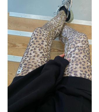 Ragdoll Workout Leggins, Brown Leopard