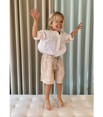 Tiffany 17691 Mini Shorts Linen, Light Beige