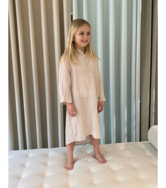 Tiffany 17690 Mini Long Shirt Linen, Light Beige