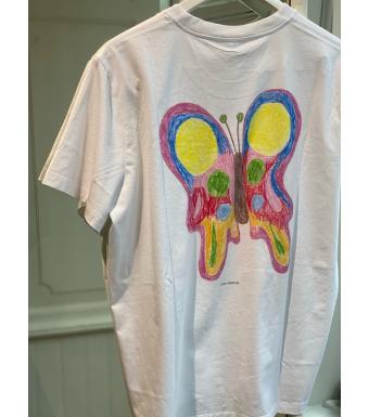 Ganni T2798 T-shirt Butterfly Basic Cotton Jersey, 151 Bright White