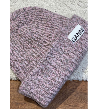 Ganni A3537 Hat Rib Knit Acc, Multicolor