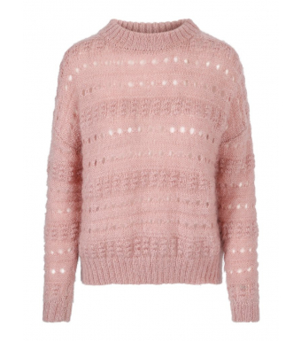 Pink sweater front
