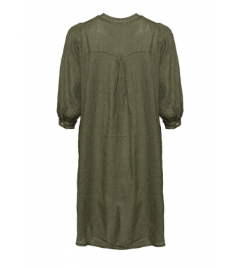 Tiffany Ebbi Short Dress Linen, Army