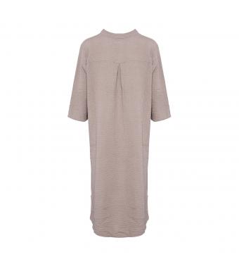 Tiffany Lång Skjortklänning 18970 Double Cotton Nougat