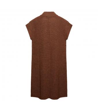 Tiffany Voka Waistcoat Knit, Brown