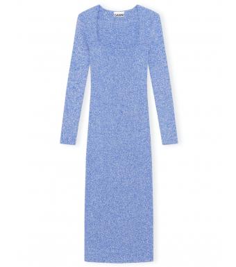 Ganni K1572 Dress Melange Knit, 572 Daphne