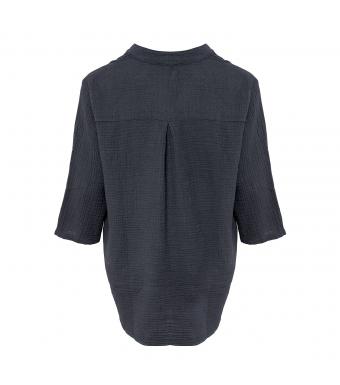Tiffany Skjorta 17661 Double Cotton Mörkgrå