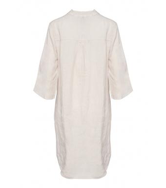 Tiffany Long Shirt Dress Linen, Light Beige