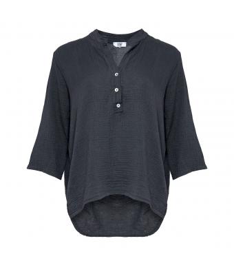 Tiffany 17661 Bomuldsskjorte Mørkegrå Forfra