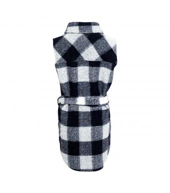 Tiffany Valley Short Waistcoat Wool, Navy/grey