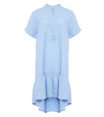 Tiffany Linneklänning Epsi 191612 Vit/Little Boy Blue
