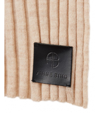 Anine Bing Henley Scarf A-12-3076, Oat Ribbed