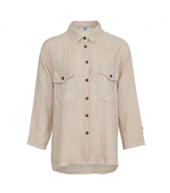 Tiffany Nimm Shirt Linen, Light Beige
