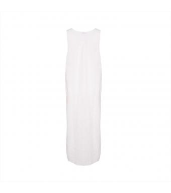 181037 Long Tank Dress, White