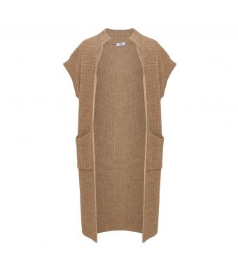 Tiffany Voka Waistcoat Knit, Camel