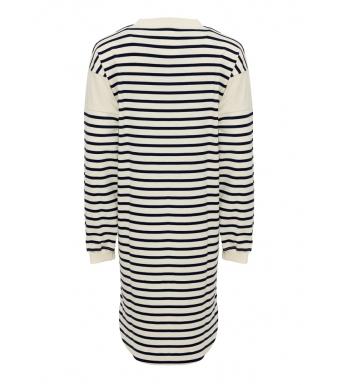 Tiffany Ranja Dress Organic Cotton, French Blue/white