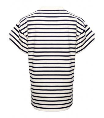 Tiffany Ranja T-shirt Organic Cotton, French Blue/white