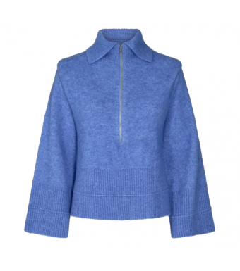 Remain Giana Knit Top, Blue Bonnet