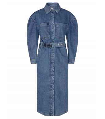 Remain Dahlia Dress Organic Cotton, Stone Wash