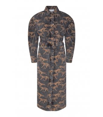 Remain Dahlia Dress Aop Rm749, Black Comb. Aop