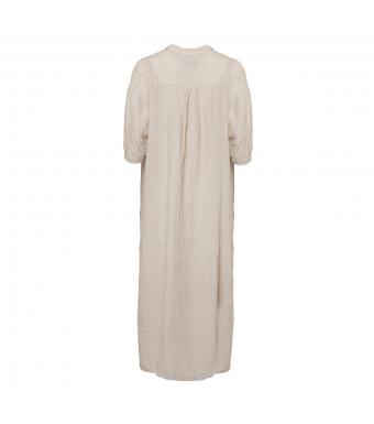 Tiffany Ebbi Long Dress Linen, Light Beige