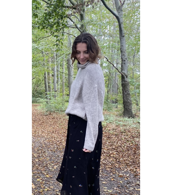 Tiffany Darling Roll Neck Knit, Beige