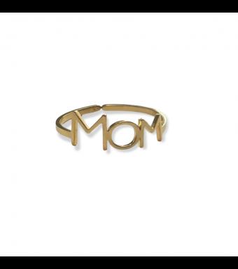 Mom Finger Ring Oz, Gold
