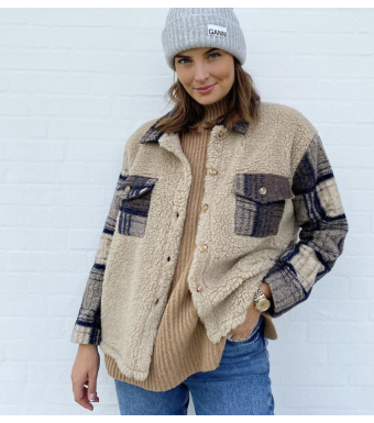 Tiffany By3278 Jacket Mixed, Beige/checked