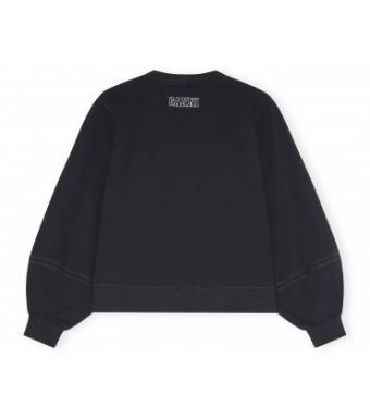 Ganni T2770 Sweatshirt Software Isoli, 099 Black