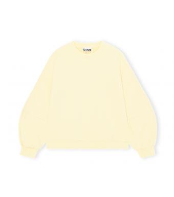 Ganni T2909 Puff Sleeve Sweatshirt Software Isoli, 304 Anise Flower
