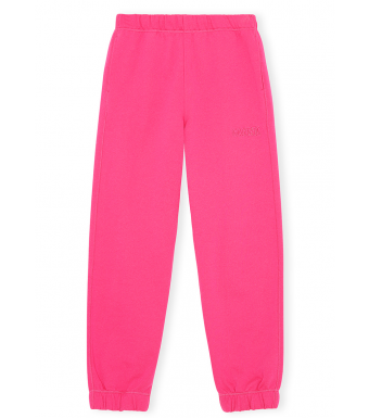 Ganni T2914 Elasticated Pants Software Isoli, 483 Shocking Pink