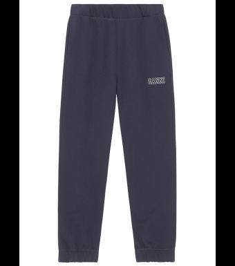 Ganni T2925 Elasticated Pants Software Isoli, 683 Sky Captain