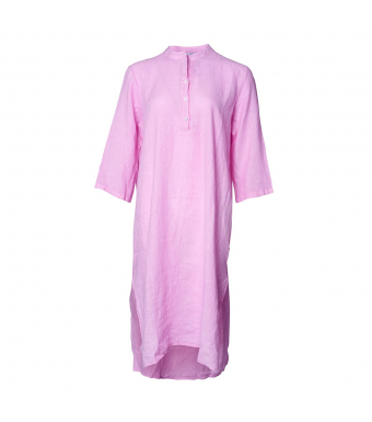Tiffany 18970 Long Shirt Dress Linen, Sweet Lilac