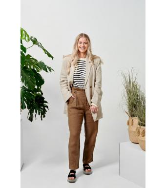 Tiffany Nimm Highwaisted Pant Linen, Macciato