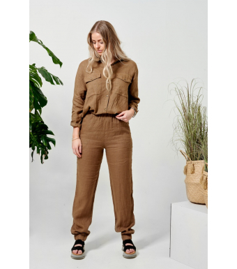 Tiffany Nimm Pant Linen, Macciato