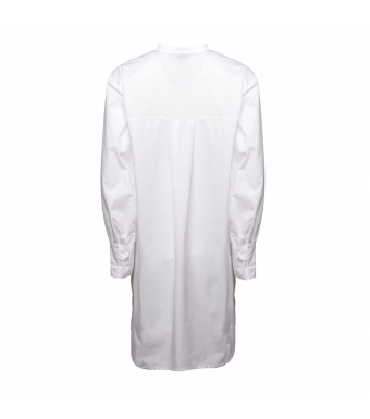 Tiffany Ella Strap Shirt Cotton Poplin, White