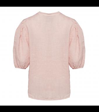 Tiffany Clara Button Blouse Linen, Rose