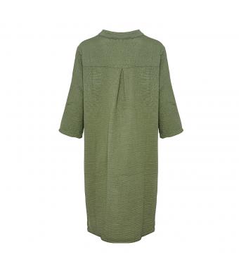 Tiffany Skjortklänning 17690 Double Cotton Armégrön
