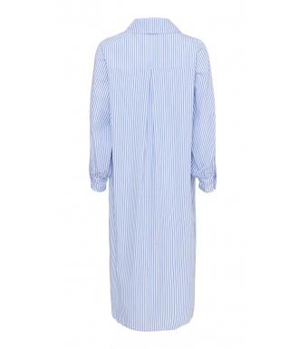 Tiffany Celia Crinkle Dress Cotton Poplin, Blue/white