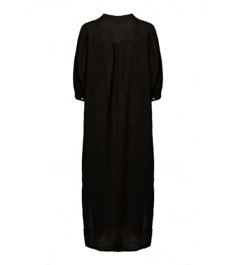 Tiffany Ebbi Long Dress Linen, Black