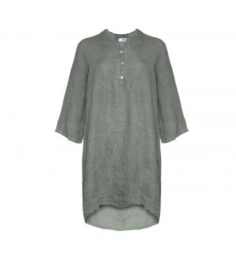 17690 Linne Skjortklänning, Army