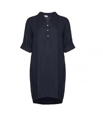 Tiffany Linneskjorta 17690 Navy