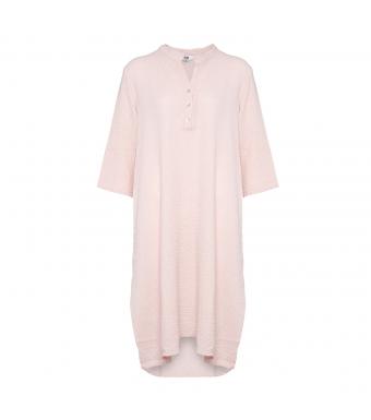 Tiffany 18970 Lang Bomuldsskjortekjole Rose Forfra