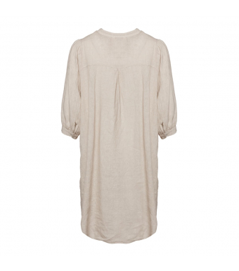 Tiffany Ebbi Short Dress Linen, Light Beige
