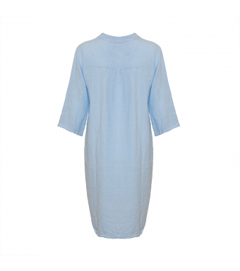 Tiffany Linneskjorta 17690 Ljusblå