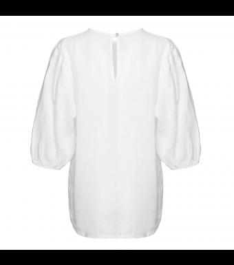 Tiffany Clara Blouse Linen, White